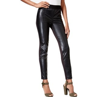 Rachel Rachel Roy Womens Plus Leggings Faux Leather Stretch