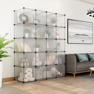 LANGRIA 20-Cube DIY Modular Organizer, Transparent