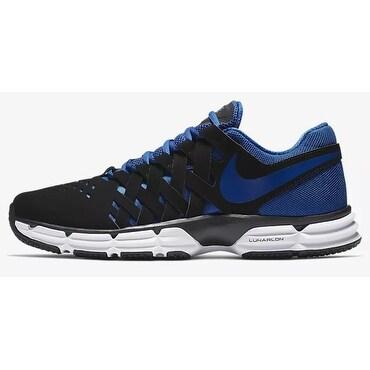 Nike Mens Nike Lunar Fingertrap Tr, Black/Gym Blue-White, 9 D(M) Us