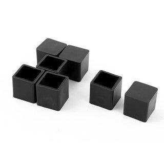 School Rubber Furniture Foot Anti-slip Protector Cover Black 20mm x 20mm 7 Pcs