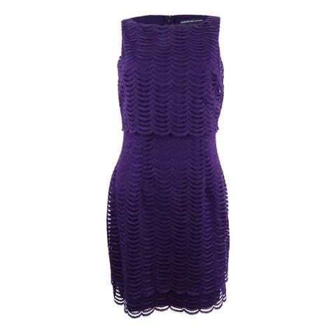 American Living Women's Mesh Popover Dress (6, Purple) - Purple - 6