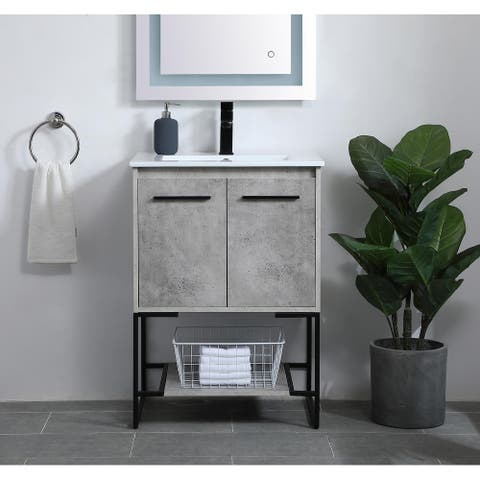 Woodland Modern Vanity Cabinet Set with Top