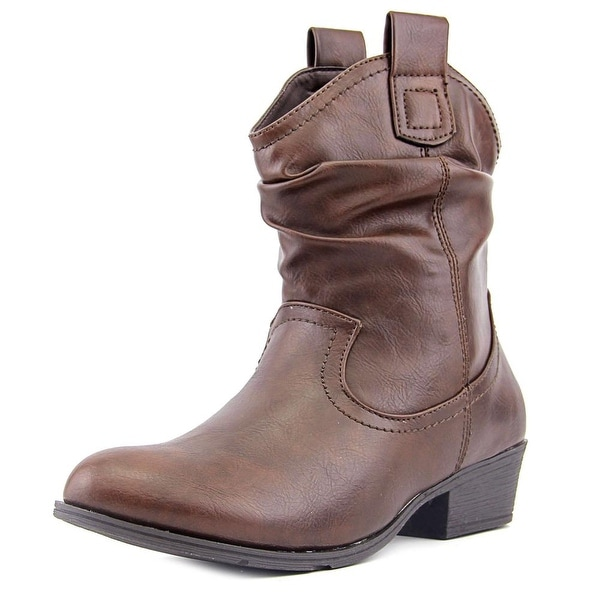 Wanted Elpaso Women Round Toe Synthetic Brown Ankle Boot