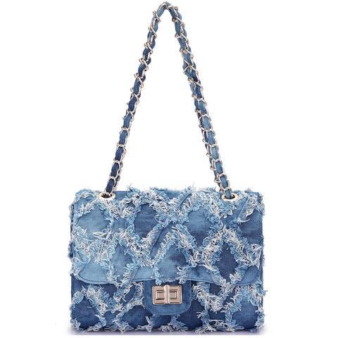 Dasein Denim Women Shoulder Bags