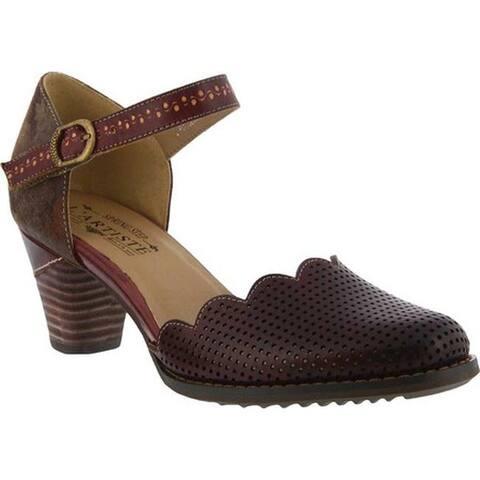 L'Artiste by Spring Step Women's Parchelle Quarter-Strap Bordeaux Leather