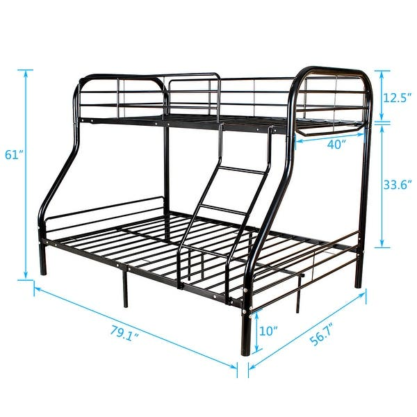 Twin Over Full Metal Bunk Bed On Sale Overstock 25782583