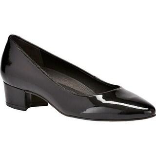 Walking Cradles Women's Heidi Pump Black Patent Leather