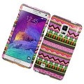 Insten Colorful Elegant Tribal Hard Snap-on Rubberized Matte Case Cover For Samsung Galaxy Note 4 - Thumbnail 0