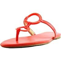 Michael Michael Kors Claudia Flat Sandal Women  Open Toe Orange Thong Sandal