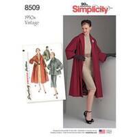6-8-10-12-14 - Simplicity Misses' Vintage Coat Or Jacket