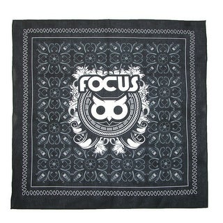 Focus Button Owl Print Bandana - black / red / white / blue - One Size