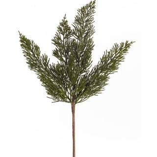 """Club Pack of 24 Decorative Indoor Christmas Artificial Icy Pine Pick 14""""H"""