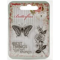 "Scrapberry's Butterflies Clear Stamps 2.7""X2.7""-The Best Things"
