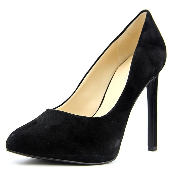 Nine West Leap A Faith   Open Toe Suede  Platform Heel