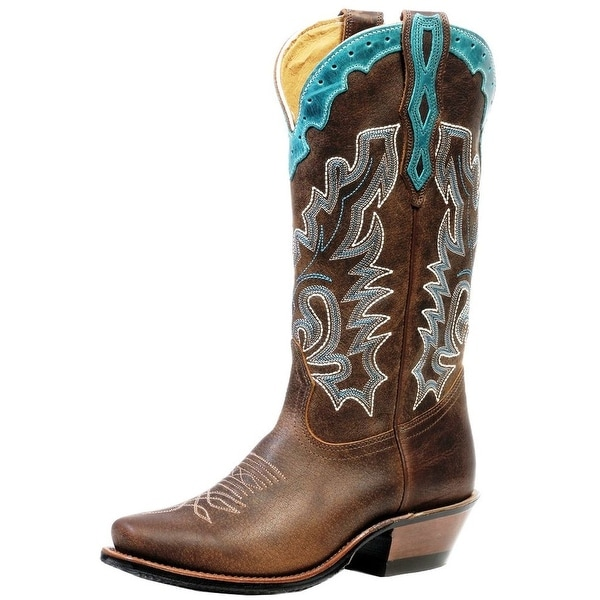 Boulet Western Boots Womens Cutter Rider Leather Selvaggio Wood