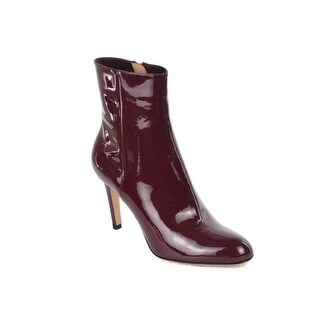 Gianvito Rossi Burgundy Patent Leather Booties