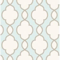 Brewster 2625-21818 Structure Turquoise Chain Link Wallpaper - turquoise chain link - N/A