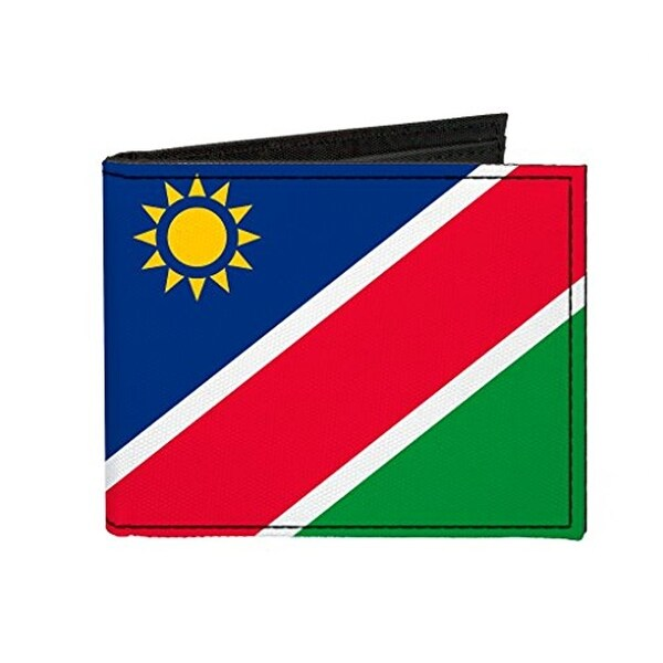 Buckle-Down Canvas Bi-fold Wallet - Namibia Flag Accessory