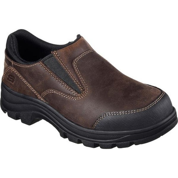 f4f939375c5f Skechers Women  x27 s Work Workshire Teays Steel Toe Slip-On Shoe Dark