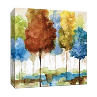 "PTM Images 9-147364  PTM Canvas Collection 12"" x 12"" - ""Magical Forest I"" Giclee Trees Art Print on Canvas"