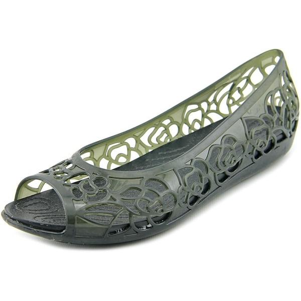 62939b178e9 Shop Crocs Isabella Jelly Flat Women Round Toe Synthetic Black Flats ...