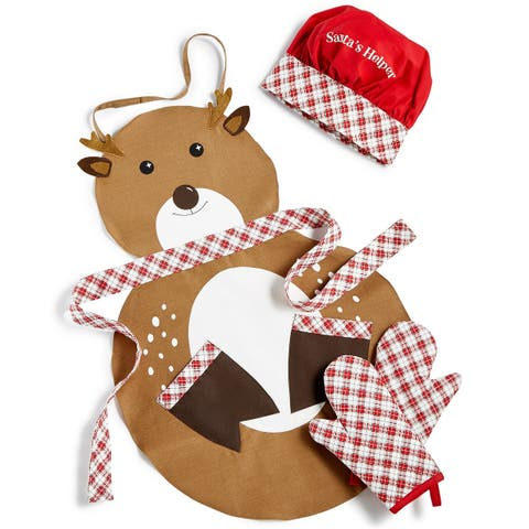 Martha Stewart Collection Kids Cooking Set Santa's Helper - Brown - One Size Fits Most