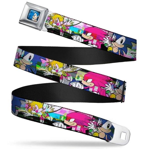 Sonic Classic Sonic Standing Pose Full Color Black Blue Sonic Tails Seatbelt Belt