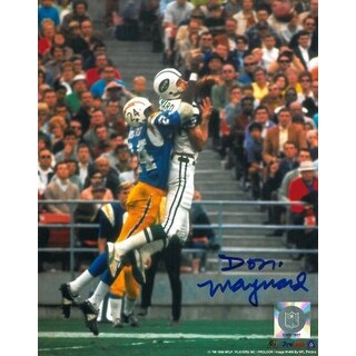 Don Maynard signed New York Jets 8x10 Photo vs Chargers