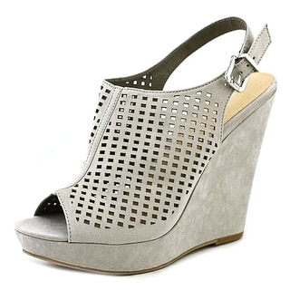 Chinese Laundry Meet Up Open Toe Synthetic Wedge Heel