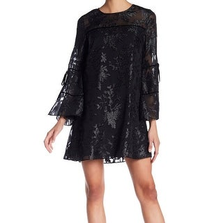 Laundry by Shelli Segal Womens Shimmer Floral Shift Dress