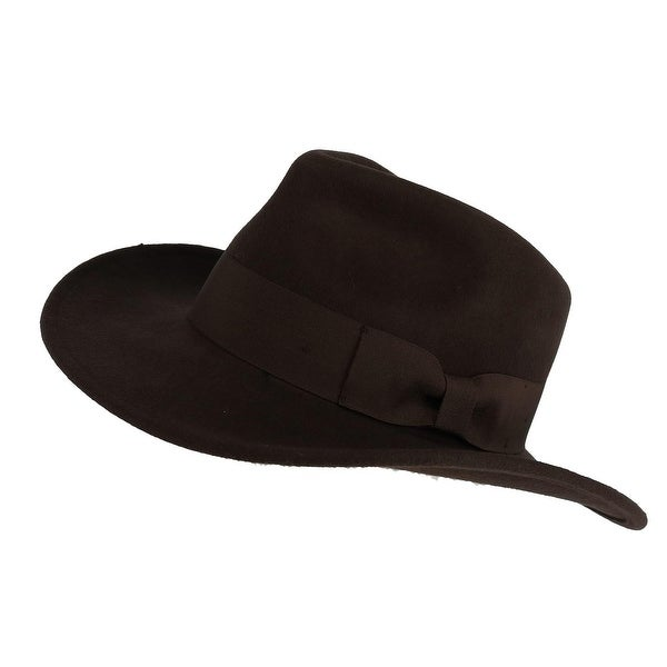Epoch Hats Company Men  x27 s Wool Felt Outback Hat with Grosgrain Band 40382913e1f1
