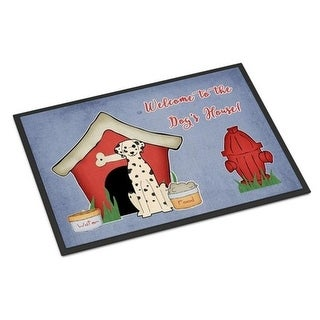 Carolines Treasures BB2851JMAT Dog House Collection Dalmatian Indoor or Outdoor Mat 24 x 0.25 x 36 in.