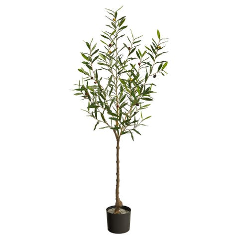 """5' Olive Artificial Tree - 6"""""""