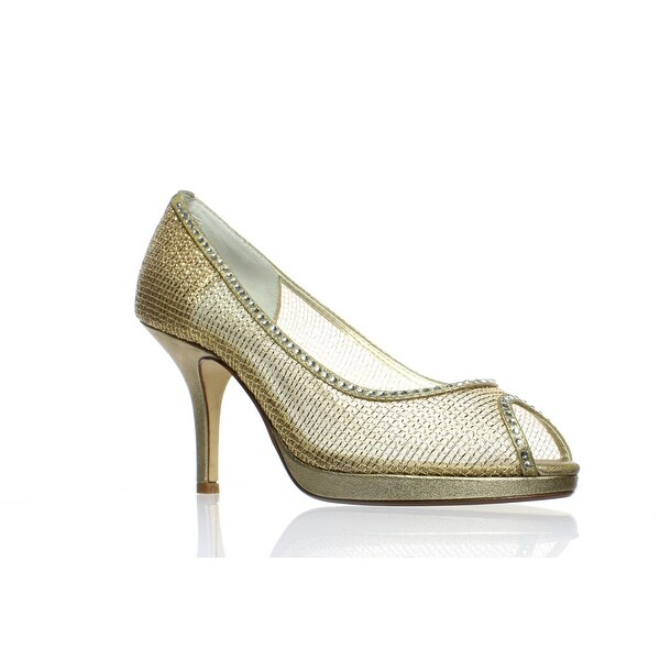 Shop Caparros Womens Future Gold Peep Toe Heels Size 6.5
