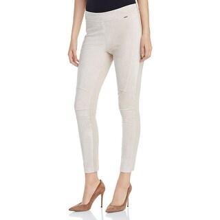 Calvin Klein NEW Beige Women's Size XL Faux Suede Skinny Leg Pants