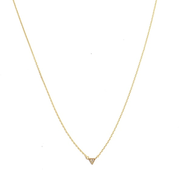 Honeycat Mini Crystal Triangle Necklace (Delicate Jewelry)