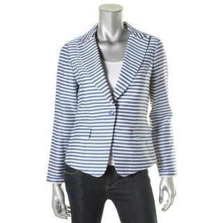 Finity Womens Blazer Textured Striped - 6