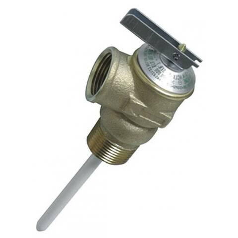 """Camco 10453 Water Heater Temperature & Pressure Relief Valve, 2.5"""""""