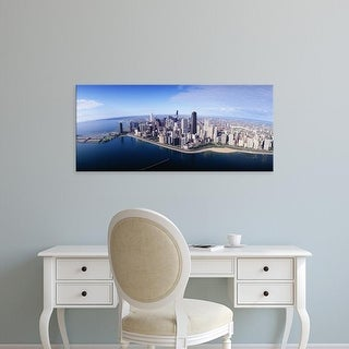 Easy Art Prints Panoramic Images's 'Chicago IL' Premium Canvas Art