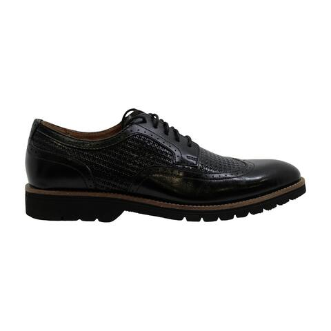 Stacy Adams Mens Emerick Wingtip OX Leather Lace Up Dress Oxfords