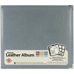 "Charcoal - We R Classic Leather D-Ring Album 12""X12"""