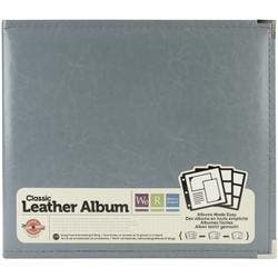 """We R Classic Leather D-Ring Album 12""""X12""""-Charcoal"""
