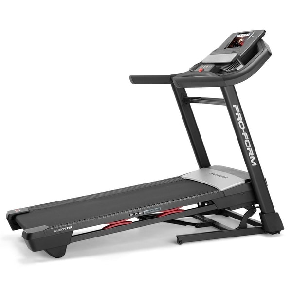 ProForm Carbon T10 Smart Treadmill with 30-Day iFIT Family Membership. Opens flyout.