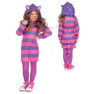 Girls Cozy Cheshire Cat Halloween Costume