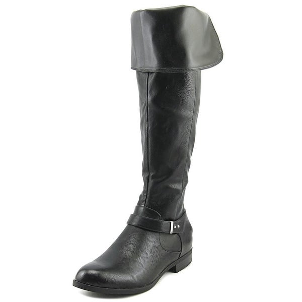Bar III Daphne Women Round Toe Synthetic Black Over the Knee Boot