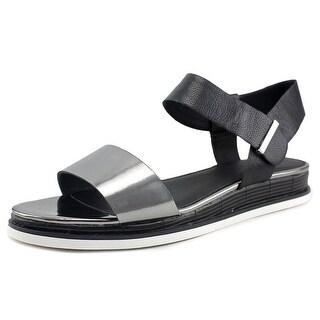 Calvin Klein Cadan Women Open Toe Synthetic Black Gladiator Sandal