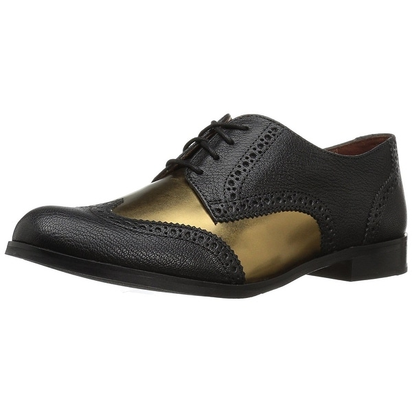 08c0a129d Cole Haan Women  x27 s Jagger Wing Oxford - black antique gold leather
