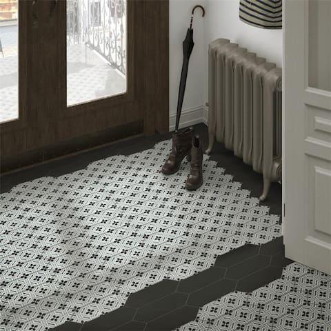 SomerTile 4x11.75-inch Cometa Century Grey Porcelain Floor and Wall Tile (40 tiles/11.81 sqft.)