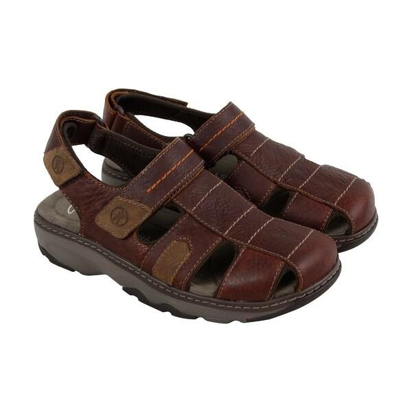 3fa410d90884 Shop Clarks Raffe Bay Mens Brown Leather Flip Flops Slip On Sandals ...