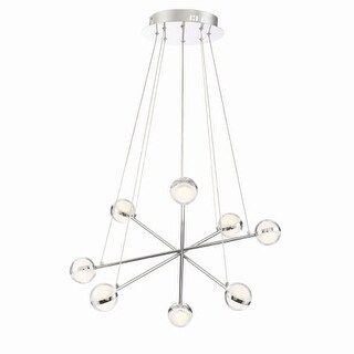 "Eurofase Lighting 31865 Lazio 8 Light 23-1/2"" Wide Integrated LED Sputnik Chandelier"